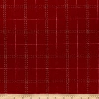 Wool Flannel Plaid Stitches Red/Camel