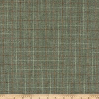 Wool Plaid Jacket Suiting Heather Green