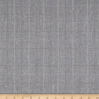 Wool Flannel Herringbone Shadow Grey/Olive