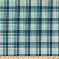 Wool Plaid Suiting Blue/Green