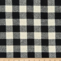 Wool Coating Buffalo Plaid Black/White
