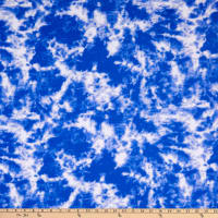 Fabric Merchants Swimwear Nylon Spandex Tie Dye Royal/White