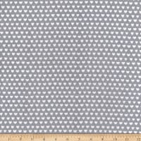 Flannel Hearts Grey