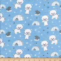 Flannel Igloo Blue
