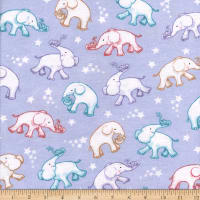 Flannel Baby Ele Trunk Lilac