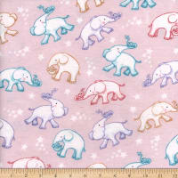 Flannel Baby Ele Trunk Light Pink
