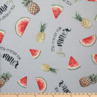 Polyurethane Laminate Watermelon/Pineapple Grey