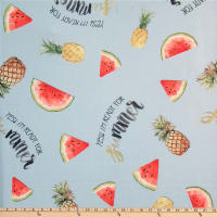 Polyurethane Laminate Watermelon/Pineapple Blue