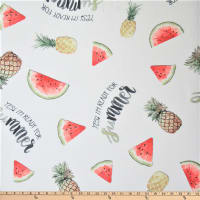 Polyurethane Laminate Watermelon/Pineapple White