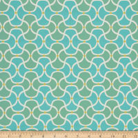Bella Dura Home Performance Outdoor Scallop Turquoise