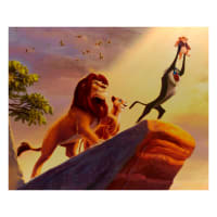 "Thomas Kinkade's Disney Dreams The Lion King 36"" Panel Multi"