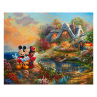 "Thomas Kinkade's Disney Dreams Sweetheart Cove 36"" Panel Multi"