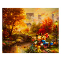 "Thomas Kinkade's Disney Dreams Central Park 36"" Panel Multi"