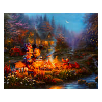 "Thomas Kinkade's Disney Dreams Sweetheart Campfire 36"" Panel Multi"