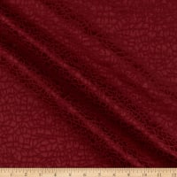 Craze Textured Jacquard Woven Ruby