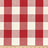 Big Duck Canvas Windmill Linen Check Red
