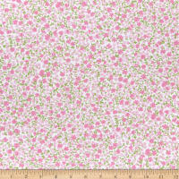 Kaufman Laguna Stretch Cotton Jersey Knit Prints Blossoms Baby Pink