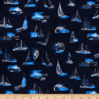 Kaufman Plisse Collection Flags Navy