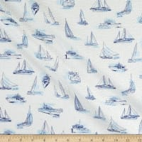 Kaufman Plisse Collection Boats White