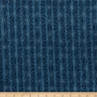 Kaufman Sevenberry Nara Homespun Geometric Denim