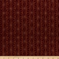 Kaufman Sevenberry Nara  Homespun Geometric Red