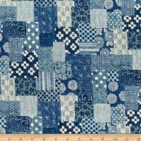 Kaufman Sevenberry Nara Homespun Patchwork Denim