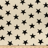 Kaufman Sevenberry Canvas Natural Stars Jet