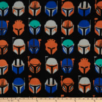 Star Wars Mandalorian Assorted Helmets Fleece Black