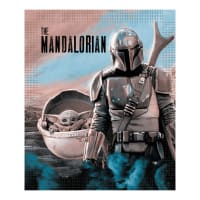 "Star Wars Mandalorian and Child 60"" x 72"" No Sew Throw Kit"