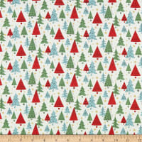 Liberty Fabrics Festive Collection Noel Forest White