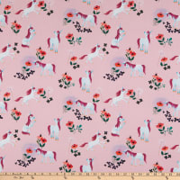 Riley Blake Uni The Unicorn Toss Light Pink