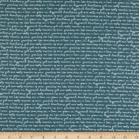 Riley Blake My Heritage Text Teal