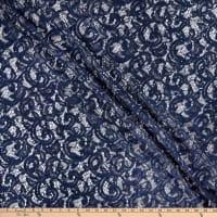 Ashley Stretch Sequin Lace Navy