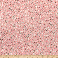 Fabric Merchants Rayon Challis Multi Ditsy Allover Floral Blush/Coral