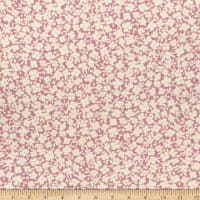 Fabric Merchants Double Brushed Poly Jersey Knit Allover Floral Mauve