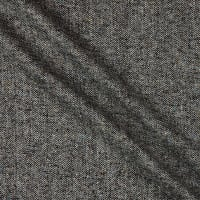 Wool Blend Flannel Tweed Charcoal Grey