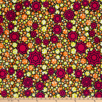 Supreme Superwax African Ankara Print 6 Yards Fuchsia
