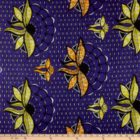Supreme Superwax African Ankara Print 6 Yards Purple