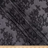 Scalloped Floral Lace Black