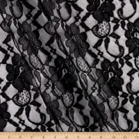 Large Floral Scalloped Lace Black