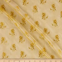 3-Dimensional Mini-Floral Fancy Stretch Lace Spicy Mustard