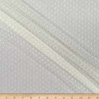 Stretch Mesh Dot Eggshell