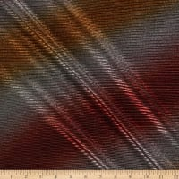 Pleated Metallic Ombre Lame Burgundy/Gold