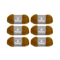 Patons Alpaca Blend Pack of 6 Tiger Eye