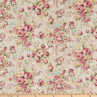 Quilt Gate Ruru Bouquet Classic Library 2 Large Bouquet Shirting Pink