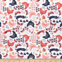 Poppie Cotton Daisy Mae Country Life White