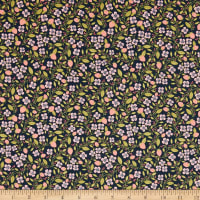 Poppie Cotton Daisy Mae Berry Blossoms Navy