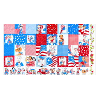 "Loralie Designs US Medley 24"" Panel Multi"