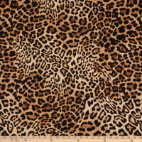 Fabtrends DTY Animal Leopard Skin Black Tan
