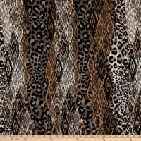 Fabtrends Dty Animal Cheetah Snakeskin Taupe